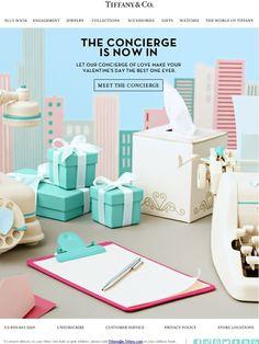 Email Marketing Meet Tiffany's Concierge of Love Engagement Emails, Concierge, Engagement Jewelry, Email Marketing, Coupon Codes, Seo, Jewelry Collection, Tiffany, Valentines