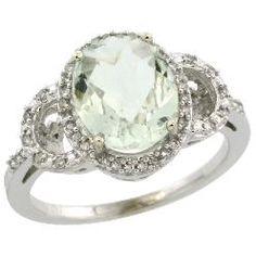 perfect green amethyst ring