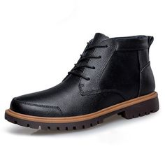 Big Size Men's Vintage Retro High Top Lace Up Flat Casual Boots