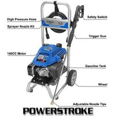 Powerstroke PS80519B 2200 psi Gas Pressure Washer Review Best Pressure Washer, Pressure Washers, Safety Switch, Outdoor Power Equipment, Club