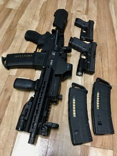 Pistol and my two Glocks Weapons Guns, Guns And Ammo, Airsoft, Armadura Ninja, Custom Guns, Military Guns, Assault Rifle, Cool Guns, Tactical Gear