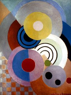 Delaunay: Rhythm, 1946 Canvas Print / Canvas Art by Granger Sonia Delaunay, Robert Delaunay, Motif Art Deco, Art Moderne, Canvas Prints, Art Prints, Canvas Art, Oeuvre D'art, Geometric Shapes