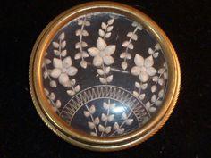 Stunning Vintage Art Deco Reverse Carved Lucite Floral Brooch 1930s
