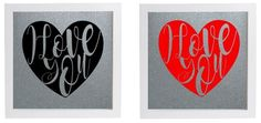 Vinyl Sticker DIY Box Frame I LOVE YOU modern Art  personalised option Valentine #UNBRANDED #ValentinesDay