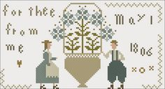 Please accept this free little chart   in celebration of May Day.   From me   to thee...          Pattern Name:   For Thee From Me    Des...