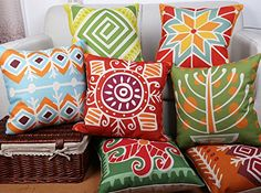 FFMODE Cotton Linen Square Decorative Throw Pillow Case Cushion Cover Modern Art 7 PIECE 18''X18'' FFMODE http://www.amazon.com/dp/B00WWDOVQW/ref=cm_sw_r_pi_dp_iyWsvb0AB11TH