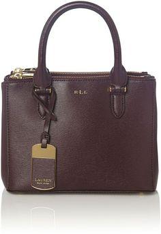 Lauren Ralph Lauren Burgundy mini double zip tote bag on shopstyle.com