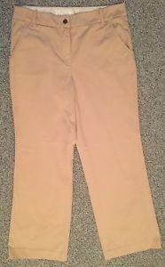 *J.CREW* Women's Khaki Tan Sand Hutton Straight Leg Casual Pants 12 TALL 12T