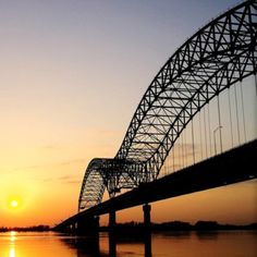 Memphis TN - sunset at the Ms river