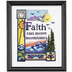 Faith Can Move Mountains - Cross Stitch, Needlepoint, Embroidery Kits – Tools and Supplies