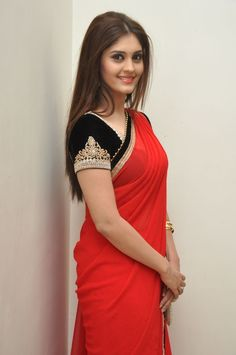 surabhi in red saree – boutiquesareeblouse.com