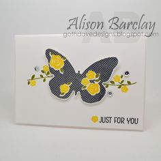 Gothdove Designs - Alison Barclay Stampin' Up! ® Australia : Stampin' Up! Australia - Color Coach Card #119 - Stampin' Up! Floral Wings