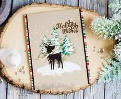 Heather Hoffman: Houses Built of Cards: Holiday Wishes Deer - SSS Holiday Card Kit - 11/17/16.  (Pin#1: Christmas: Deer).
