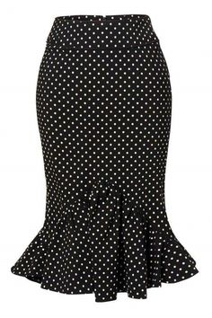 Sold Out Bunny - Momo pencil skirt Black White polka dot frill bow Skirt Outfits, Dress Skirt, Frilly Skirt, Bow Skirt, African Fashion Dresses, Fashion Outfits, Trendy Outfits, Pencil Skirt Black, African Wear