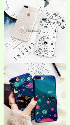 These phone cases is a must to have for your iPhone if you're a space addict. These phone case is an iPhone case for 6, 7 and X with a space doodle on it. Visit our site to learn more