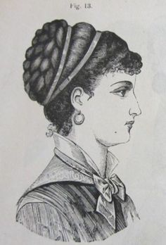 The Barrington House 1800s Hairstyles, Historical Hairstyles, Edwardian Hairstyles, Modern Hairstyles, Vintage Hairstyles, Historical Costume, Historical Clothing, Victorian Era, Victorian Fashion