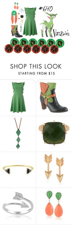 """Virizion - #640"" by malecsizzyclace ❤ liked on Polyvore featuring Dorothy Perkins, Spring Step, Les Néréides, Versace 19•69, Journee Collection, Ross-Simons, Allegra London, Pokemon, 640 and Virizion"