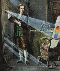 Isaac Newton's optics experiments (1666–1672)