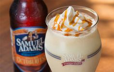 This is the Samuel Adams Octoberfest Milkshake. The glorious concoction is coming soon to burger chain Red Robin. I'm coming for you.