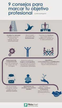9 consejos para marcar tu objetivo profesional #infografia #infographic