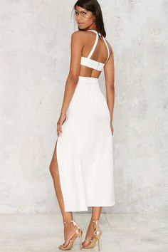 Cutout of Bounds Maxi Dress - Metallics | Cocktail Dresses | Midi Dresses | White Dresses | All Party