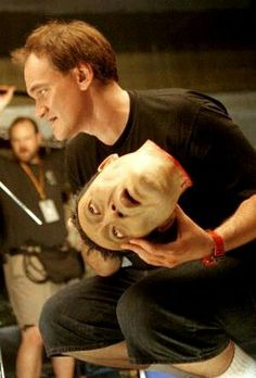 Tarantino en el set de Kill Bill(2003)