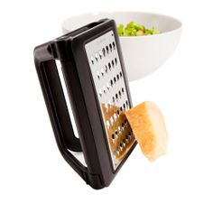 """Love the handling method of this device. Also easy when placed over bowls. Easy to swap grates and easy to clean. I know someone that will like this enough to get it this Christmas. Done!"" --Home Depot customer macavada"