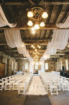 beautiful wedding ceremony. In love with the rustic elegance of the draping and venue