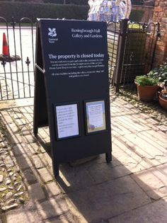 """Chalkboard at National Trust - Beningbrough Hall - """"Can you thank for the Chalkboards UK team for the great bespoke A-frame, I'm very happy with it"""""""