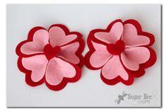 Heart Felt Flower Hairclips