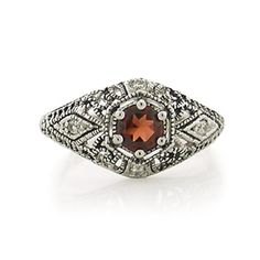 Megan's Garnet Red CZ Art Deco Ring - Only $43.95 — Fantasy Jewelry Box