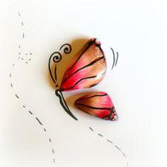 Ali di Farfalle Piccole  Cabochon fatti a mano in di archidee