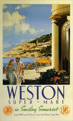 "Vintage travel poster (""No pleasure is worth giving up for a few extra years in a nursing home in ..."" thank you Kingsley Amis for that indelible mental link)"