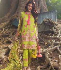 Mina Hasan Embroidered Chiffon Suits Collection 2016 Volume-2 MH_6