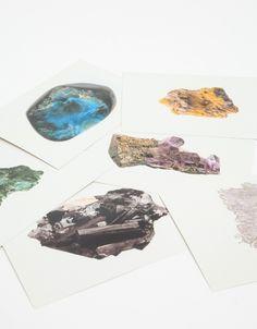 Minerals Encyclopedia Cards, PostalCo
