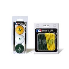 Oakland Athletics 3 Ball Pack and 50 Tee Pack