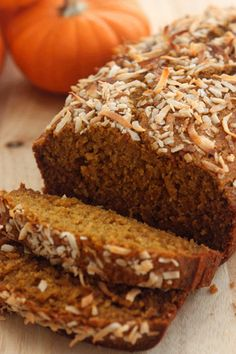 Healthy pumpkin bread with coconut oil