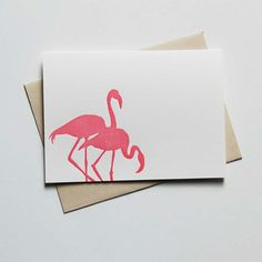 Flamingos and proper stationery