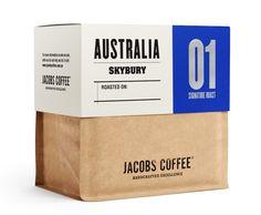 Packaging Jacobs Coffee par Angela Spindler, optimisation du transport pour ce packaging empilable #packaging #design