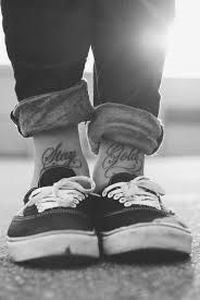 text tattoo on ankle - Google Search