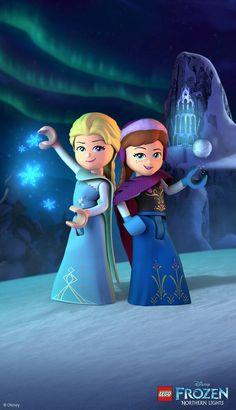 LEGO Disney Frozen Northern Lights, a compilation of four all-new animated shorts from the LEGO Group, is a new story from the kingdom of Arendelle with voice Frozen Wallpaper, Disney Wallpaper, Old Disney, Lego Disney, Frozen Elsa And Anna, Disney Frozen, Iconic Characters, Disney Characters, Disney Shows