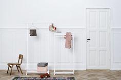 Childrens white wood Clothes rail | Nubie - Modern Baby Boutique