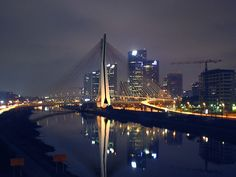 World's first x shaped cable stayed bridge with two crossed lanes - São Paulo (Brazil) - SkyscraperCity