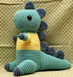 Crochet dino (free pattern)