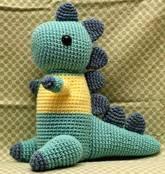 Ravelry: Disgruntled Dino pattern by Lan-Anh Bui and Josephine Wan