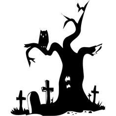 Halloween Designs and Decals Halloween Graveyard, Halloween Rocks, Halloween Trees, Halloween Prints, Halloween Haunted Houses, Halloween Quotes, Halloween Pictures, Halloween Town, Halloween Designs