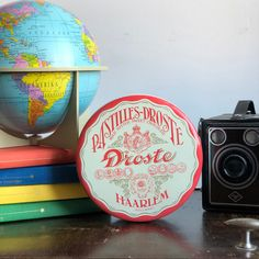Excited to share this item from my shop: Droste chocolate Tin Holland haarlem tin vintage granny chic nanna chic collectable orange and cream dutch Swedish Weaving, Cool Packaging, Granny Chic, Silk Screen Printing, Candlestick Holders, Nordic Design, Tapestry Wall Hanging, Holland, Dutch