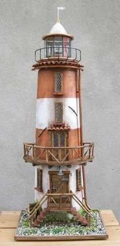 amish crafted lighthouse light house lawn yard ornament wooden