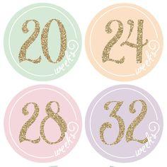 Etiqueta engomada del embarazo del vientre por pennyandprince Pregnancy Countdown, Sticker Removal, Baby Stickers, Baby Bumps, Easy Gifts, Prints, Gold, Etsy, Journey