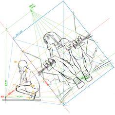 Manga Drawing Tutorials, Drawing Techniques, Drawing Tips, Art Tutorials, Drawing Sketches, Perspective Drawing Lessons, Perspective Sketch, Anatomy Drawing, Anatomy Art